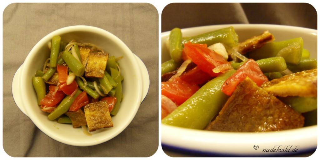 Grüne-Bohnen-Tomaten Salat