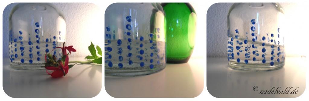 Flasche mit Punkten