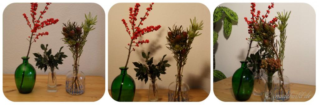 Herbstdeko Vasen