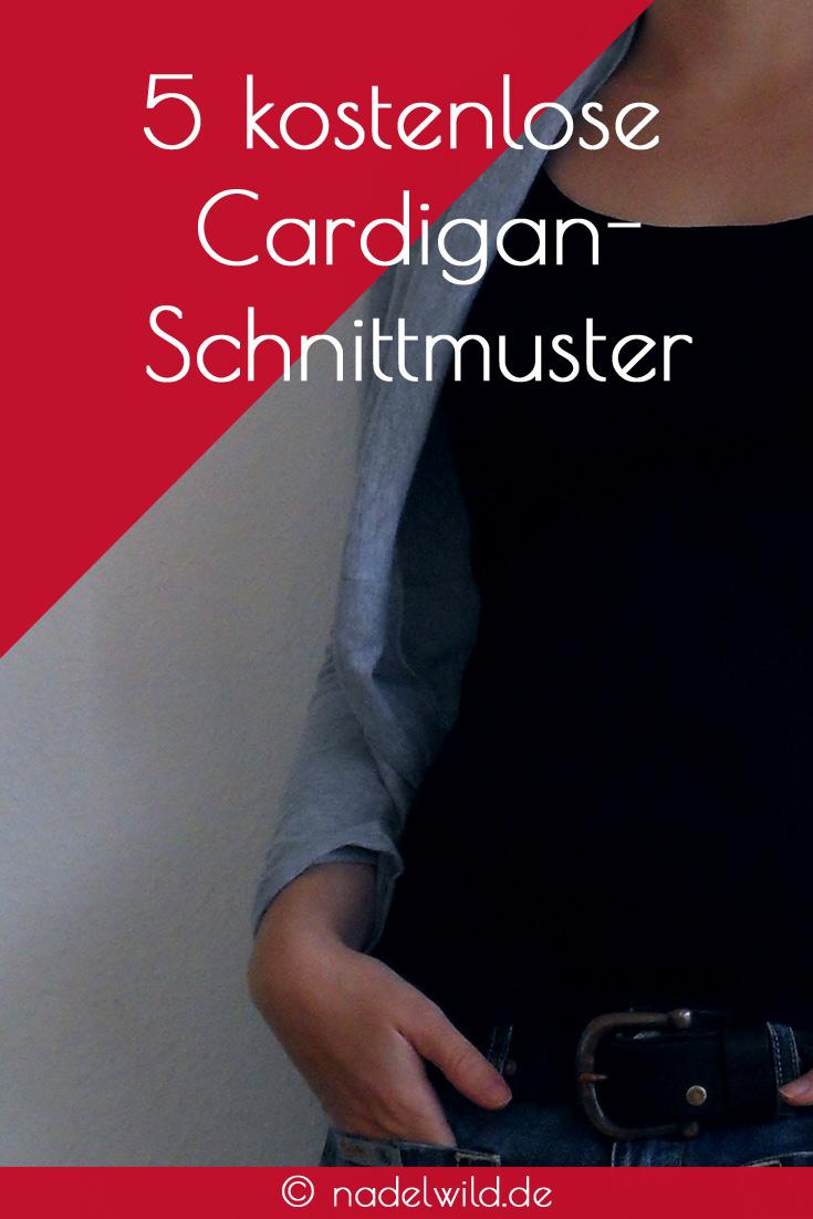 5 kostenlose Cardiganschnittmuster