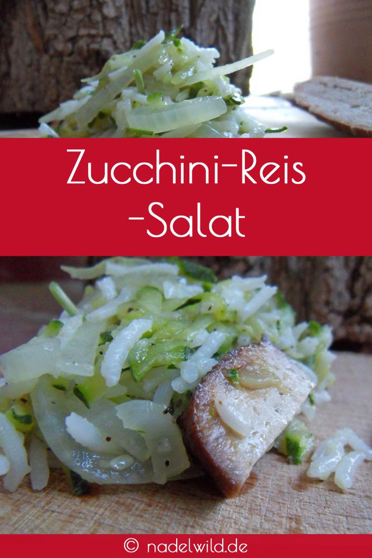 Zucchine Reis Salat mit geräuchertem Tofu