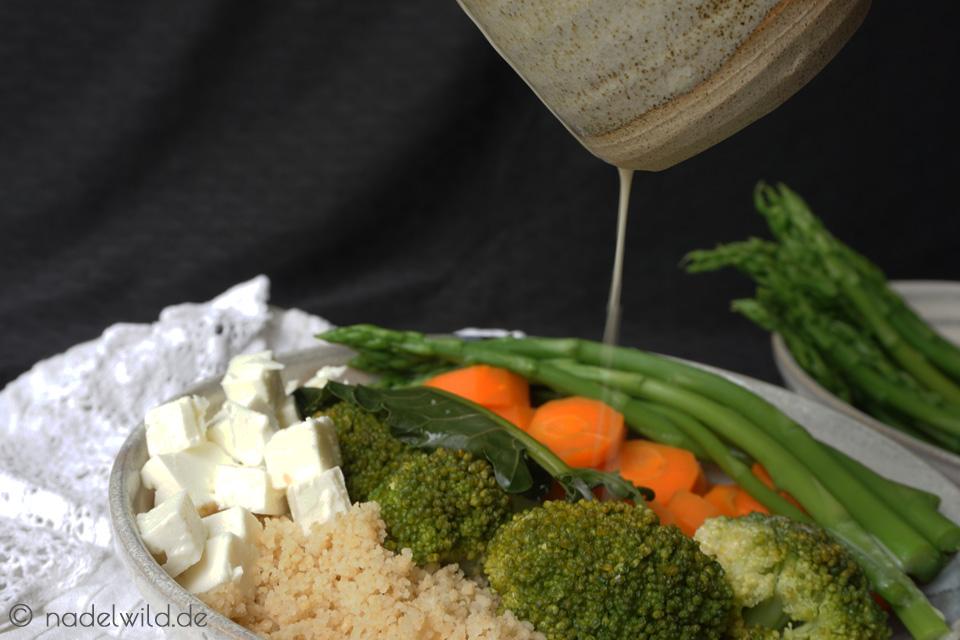 Spargelsalat aus grünem Spargel